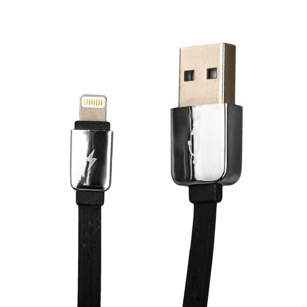Lightning кабель USB Remax Kingkong RC - 015i Safe & Speed плоский (1.0 м), цвет черный