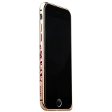 Бампер металлический iBacks Colorful Arc-shaped Loulan Aluminium Bumper for iPhone 6s/ 6 (4.7) - gold edge (ip60013) Золото