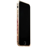 Бампер металлический iBacks Colorful Arc-shaped Flame Aluminium Bumper for iPhone 6s/ 6 (4.7) - gold edge (ip60016) Золото