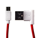MicroUSB кабель Hoco UPM10 L Shape Cable (1.2 м), цвет красный