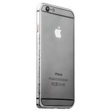 Бампер металлический iBacks Arc-shaped Venezia Aluminium Bumper for iPhone 6s/ 6 (4.7) - gold edge (ip60008) Silver Серебро