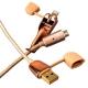 Lightning & microUSB кабель iBacks Charging Cable - Armour Series (1.0 м), цвет золотистый