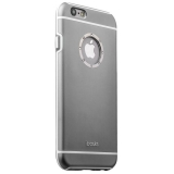 Накладка металлическая iBacks iFling Armour Aluminum Case with CrystalDiamond for iPhone 6s/ 6 (4.7) - (ip60139) Темно-Серая