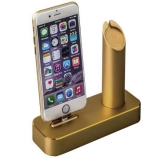 Док - станция для Apple Watch & iPhone COTEetCI Base1 Charging Cradle stand (CS2045 - CEG), цвет золотистый