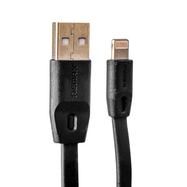 Lightning кабель USB Remax Full Speed series RC - 001i fast charging плоский (2.0 м), цвет черный