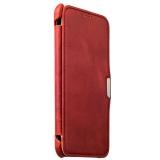 Чехол - книжка кожаный iCarer для Samsung GALAXY A8 Vintage Series (RSA81001red) Красный