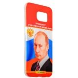 Чехол - накладка GA - Print для Samsung GALAXY S6 SM - G920F силикон (тренд) Владимир Путин вид 3
