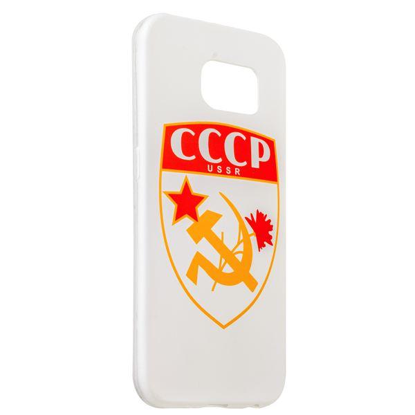 Чехол-накладка UV-print для Samsung GALAXY S6 SM-G920F силикон (арт) СССР тип 001