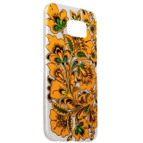 Чехол - накладка GA - Print для Samsung GALAXY S6 SM - G920F силикон (цветы и узоры) Хохлома вид 005