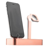 Док - станция для Apple Watch & iPhone COTEetCI Base5 Dock stand CS2095 - MRG Pink - gold, цвет розовое золото