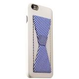 Пластиковый чехол с подставкой для iPhone 6S Plus iBacks Bowknot Series PC Case White/ Stripes, цвет белый
