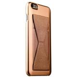 Пластиковый чехол с подставкой для iPhone 6S Plus iBacks Bowknot Series PC Case Champagne gold, цвет золотистый