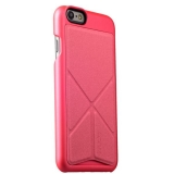 Пластиковый чехол с подставкой для iPhone 6S Plus iBacks Premium PC Case - Don Quixote Windmill (Ultra - slim Edition) Pink цвет розовый