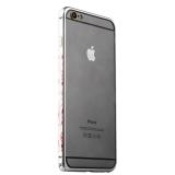 Бампер металлический iBacks Colorful Arc-shaped Flame Aluminium Bumper для iPhone 6s Plus/ 6 Plus - gold edge (ip60065) Silver