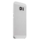 Накладка пластиковая ультра - тонкая Lodpee для Samsung GALAXY S6 Edge Plus с перфорацией Белая