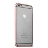 Бампер металлический COTEetCI для iPhone 6s Plus/ 6 Plus (5.5) - (CS1988-MRG) Розовое золото с розовыми кристаллами