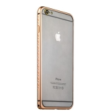 Бампер металлический iBacks Aircraft Grade Aluminum Bumper with Diamond для iPhone 6s Plus (5.5) (ip60224) Champagne gold