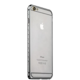 Бампер металлический iBacks Aircraft Grade Aluminum Bumper with Diamond для iPhone 6s Plus (5.5) (ip60226) Space Gray