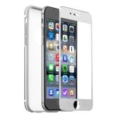 Алюминиевый чехол - накладка для iPhone 6S iBacks Ares Series Protection Suit Conqueror Silver, цвет серебристый