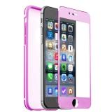 Алюминиевый чехол - накладка для iPhone 6S Plus iBacks Ares Series Protection Suit Conqueror + Glass Pink, цвет розовый