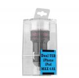Автомобильное зарядное устройство COTEetCI X3 Flash Shield Series Dual USB (4.8A) CS2014 - BK, цвет черный