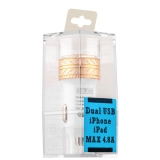 Автомобильное зарядное устройство COTEetCI X3 Flash Shield Series Dual USB (4.8A) CS2014 - CG, цвет золотистый