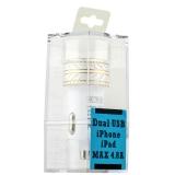 Автомобильное зарядное устройство COTEetCI X3 Flash Shield Series Dual USB (4.8A) CS2014 - TSG, цвет серебристый