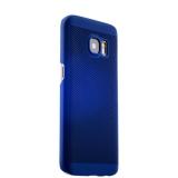 Накладка пластиковая ультра - тонкая Lodpee для Samsung GALAXY S7 (SM - G930F) с перфорацией Синяя