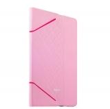 Кожаный чехол книжка для iPad Air 2 iBacks iFling VV Structure Leather Case - Business Series Pink, цвет розовый