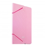 Кожаный чехол книжка для iPad Air 2 iBacks iFling VV Structure Leather Case - Business Series Pink, цвет розовый