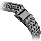 Ремешок со стразами из нержавеющей стали для Apple Watch (38 mm) COTEetCI W4 Magnificent Band (CS2087 - BK), цвет черный