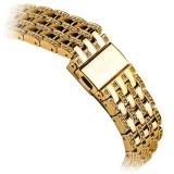 Ремешок со стразами из нержавеющей стали для Apple Watch (38 mm) COTEetCI W4 Magnificent Band (CS2087 - GD), цвет золотистый