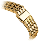 Ремешок со стразами из нержавеющей стали для Apple Watch (44 mm) COTEetCI W4 Magnificent Band (CS2088 - GD), цвет золотистый