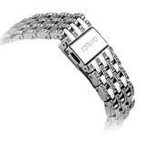 Ремешок со стразами из нержавеющей стали для Apple Watch (38 mm) COTEetCI W4 Magnificent Band (CS2087 - SS), цвет серебристый