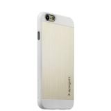 Алюминиевый чехол - накладка для iPhone 6S SPIGEN SGP Aluminum (SGP 10947) - Satin Silver, цвет серебристый