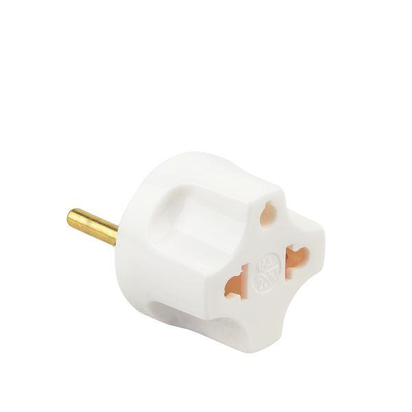 Сетевой переходник Rexant (16А/ 220V) для всех видов вилок, цвет белый