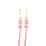AUX кабель 3.5 мм jack COTEetCI Nylon Audio line Cable Aux CS5057 - MRG (1.5 м), цвет розовое золото