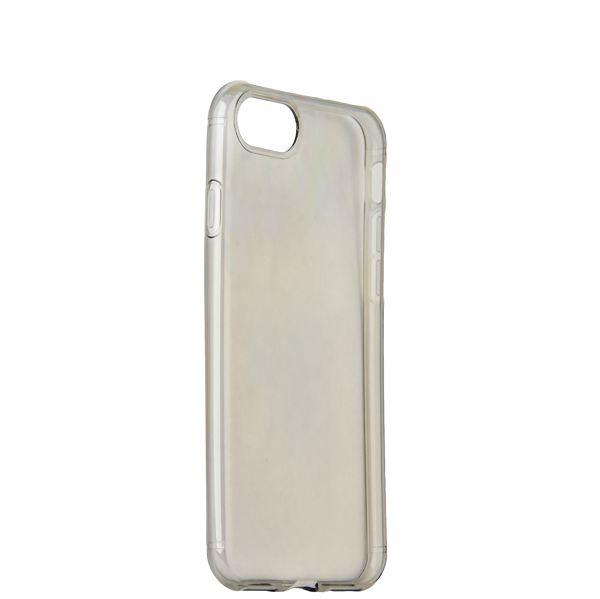 Чехол силиконовый для iPhone 8 (4.7) уплотненный в техпаке (прозрачно-чёрный)