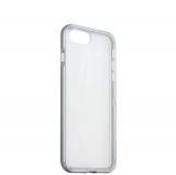 Силиконовый чехол - накладка для iPhone 8 Plus ICSES, цвет прозрачный (серый борт)