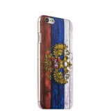 Чехол-накладка UV-print для iPhone 6s/ 6 (4.7) пластик (гербы и флаги) Флаг России тип 001