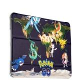Кожаный чехол книжка для iPad Air 2 Birscon Fashion series с рисунком GA - Print (Pokemon GO) вид 6