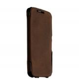 Чехол - книжка кожаный Valenta (C - 1209) для Samsung Galaxy S6 SM - G920F Booklet Classic Style Сrazy Vintage темно - коричневый