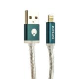 USB дата-кабель COTEetCI M30 NYLON series Lightning cable с индикатором CS2127-1.2M-GC (1.2 м) Графитовый