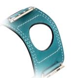 Кожаный ремешок для Apple Watch (44 mm) COTEetCI W10 FASHION BAND (WH5212 - BL - 42) Marine Blue, цвет голубой