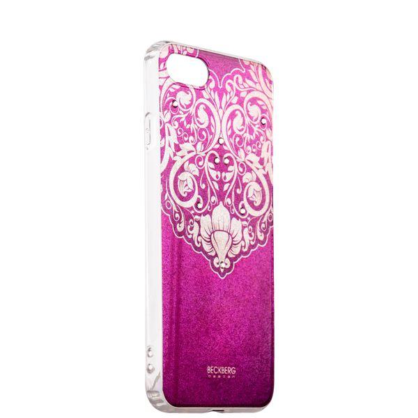 Накладка силиконовая Beckberg Golden Faith series для iPhone 8 (4.7) со стразами Swarovski вид 14