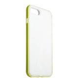 Силиконовый чехол - накладка для iPhone 8 Plus ICSES, цвет прозрачный (салатовый борт)