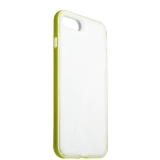 Чехол & бампер силиконовый прозрачный для iPhone 8 Plus (5.5) в техпаке Салатовый борт