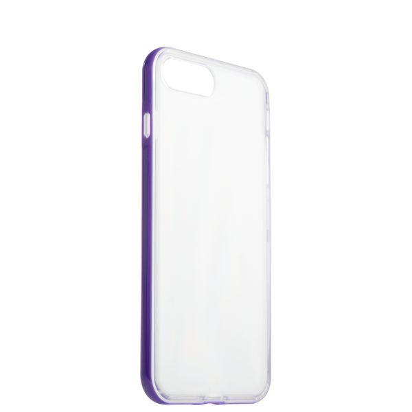 Чехол & бампер силиконовый прозрачный для iPhone 8 Plus (5.5) в техпаке Фиолетовый борт