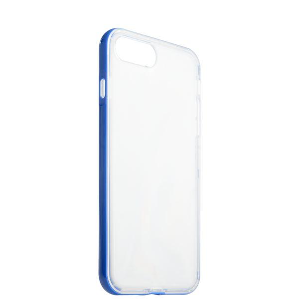 Чехол & бампер силиконовый прозрачный для iPhone 8 Plus (5.5) в техпаке Синий борт