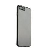 Силиконовый чехол - накладка для iPhone 8 Plus ICSES, цвет прозрачно - черный